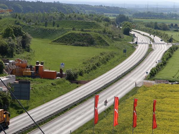 Seltenes Bild: Die Nordumgehung ohne Autoverkehr.