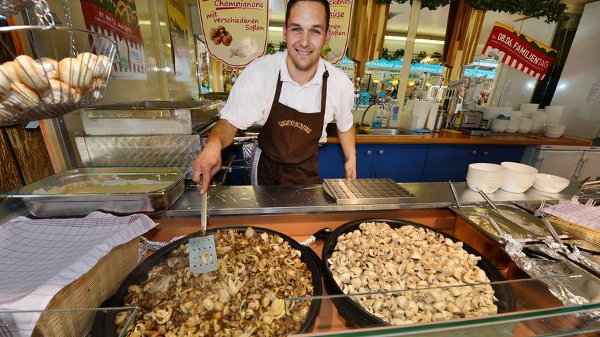 Alles gesund und vor allem alles vegetarisch: André Hoffmann macht mit seinen Champignons gute Geschäfte.