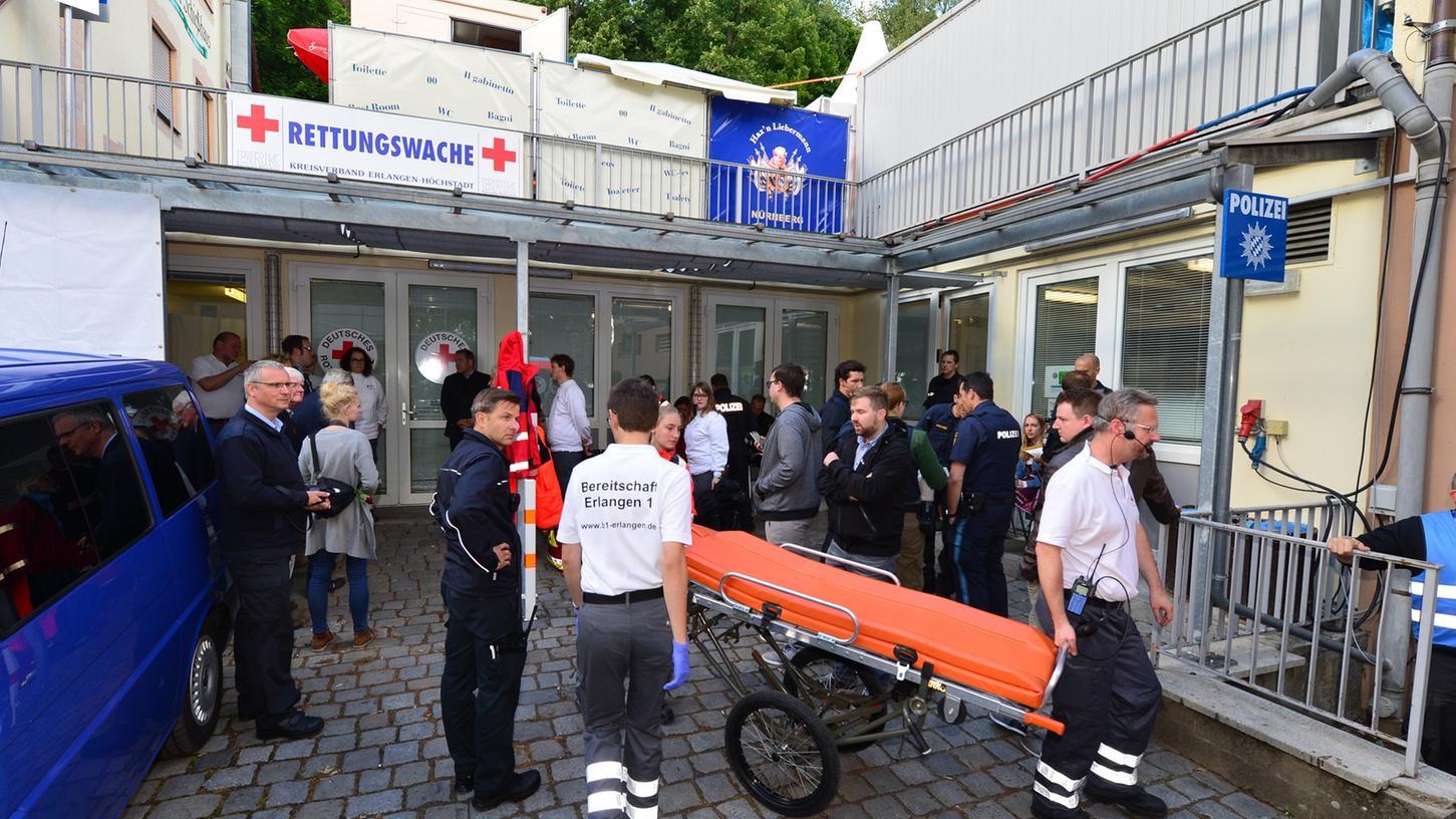 Die Polizei wird zukünftig auf der Bergkirchweih auch die Räumlichkeiten des BRK übernehmen.