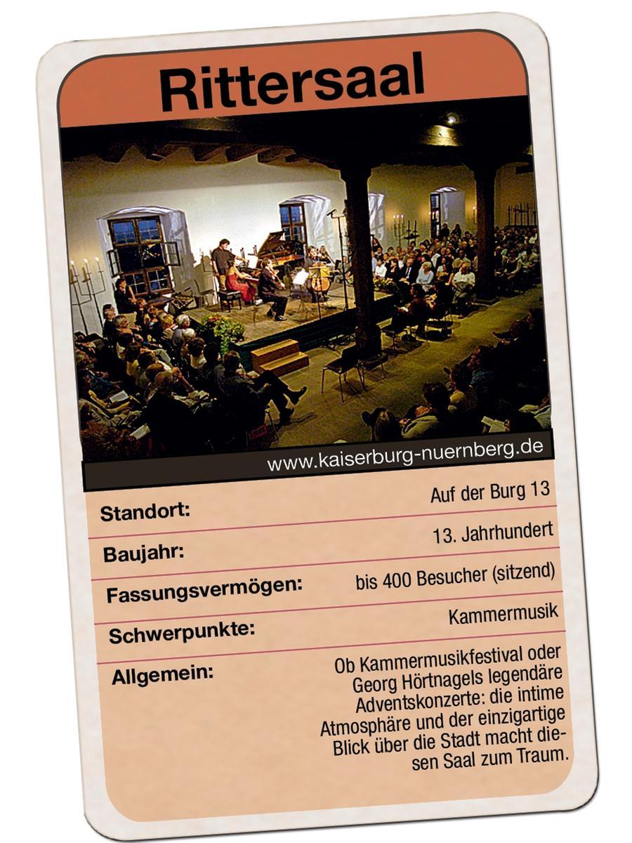 Rittersaal in der Kaiserburg zu Nürnberg