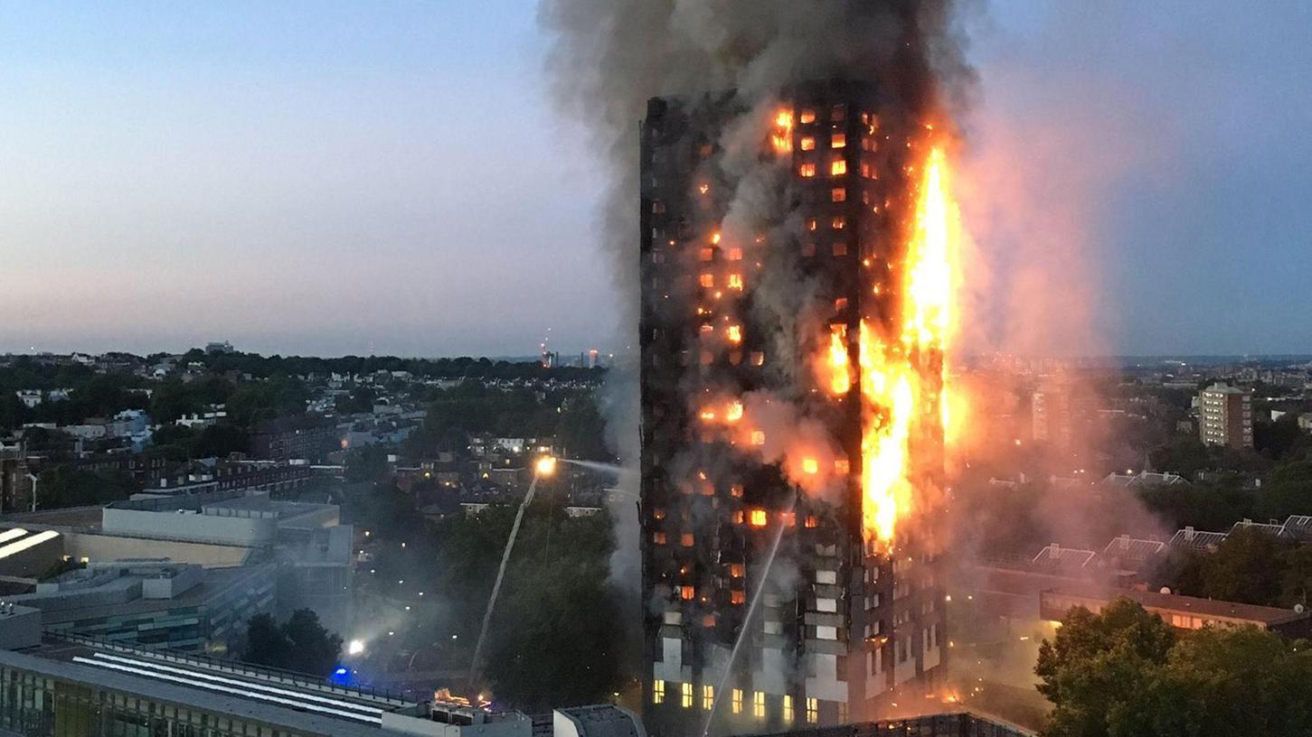 Gegen die Feuersbrunst im Grenfell Tower sollen 200 Feuerwehrleute gekämpft haben. Eine Chance, jeden der mehreren Hundert Bewohner lebend herauszubringen, sagt Fürths Feuerwehrchef Christian Gußner, hatten seine Londoner Kollegen nie.