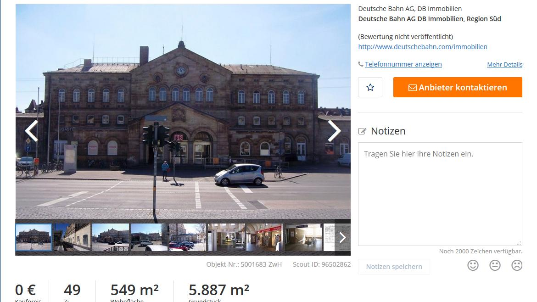Das Inserat ist auf www.immobilienscout24.de zu finden.