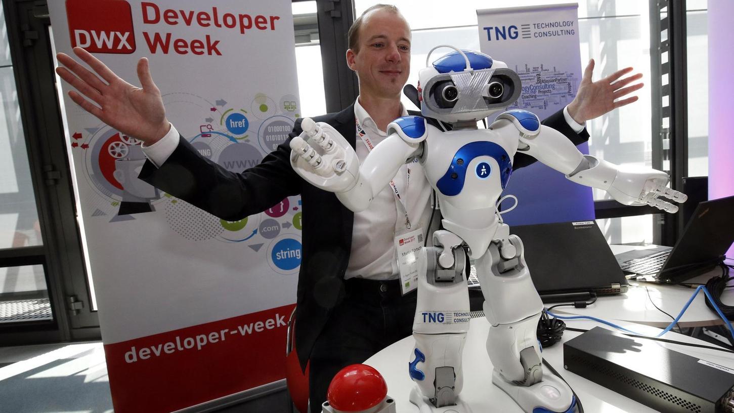 Die Welt aus der Perspektive des kniehohen Roboters