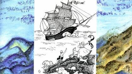 Die « Drei schwarzen Schiffe» sind in Deutsch, Russisch und Esperanto erschienen. Repro: Böhner