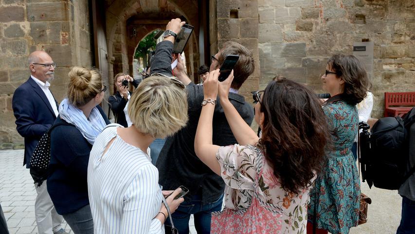 FOTO: Hans-Joachim Winckler DATUM: 1.7.2017..MOTIV: Die Schlösser- und Senverwaltung hat Blogger und Instagrammer aus ganz Deutschland zum Social Walk auf der Cadolzburg eingeladen