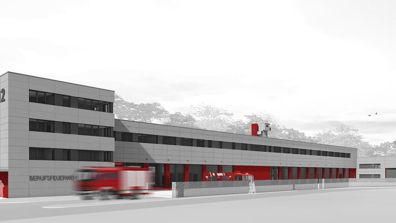 So wird der neue Feuerwehrkomplex neben der Kapellenstraße aussehen.