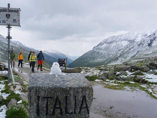 Am Pfitscherjoch geht es von Tirol hinunter nach Südtirol.