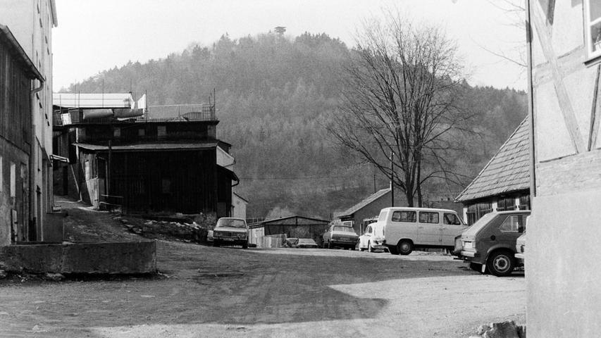 So präsentierte sich die Pegnitzer Brauhausgasse vor 40 Jahren.