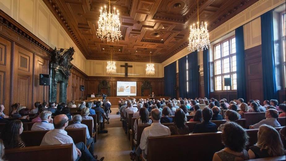 Der Justizpalast in Nürnberg wird Schauplatz bei den Stadtverführungen 2017. Auf dem Foto zu sehen ist der berühmte Saal 600 des Justizpalastes.