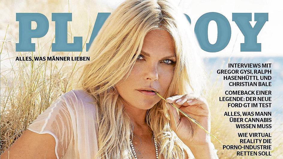 So sieht das Cover des Playboys aus. Weitere Motive exklusiv nur unter: www.playboy.de/stars/diana-herold.