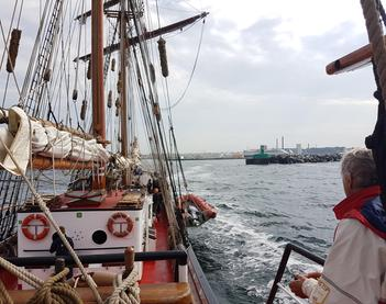 Christina Merkel auf Segelreise