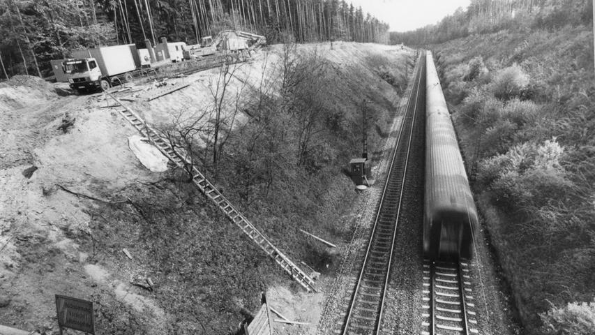 Der nächste Abschnitt folgt in Richtung Nürnberger Land: Vorbereitende Maßnahmen auf der Strecke nach Altdorf.