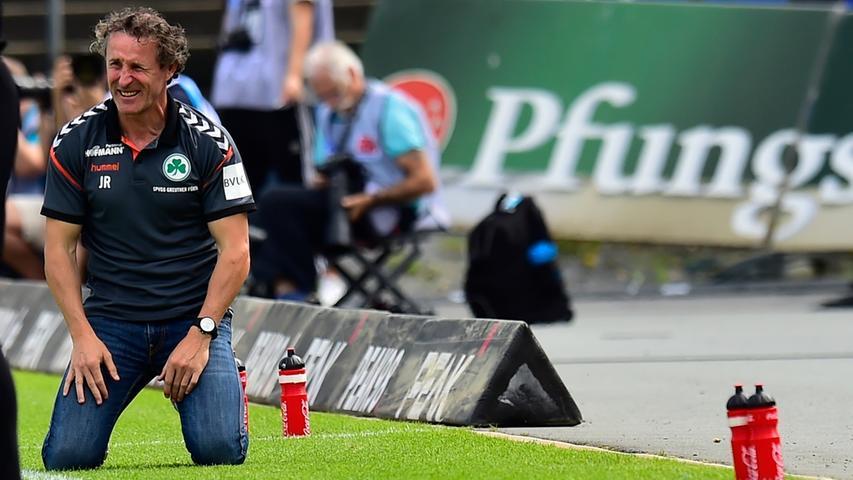 Doch der Saisonauftakt in Darmstadt geht erstmal in die Hose. Trotz ordentlicher Leistung verliert die Spielvereinigung mit 0:1, der Negativtrend geht auch in der neuen Spielzeit weiter.