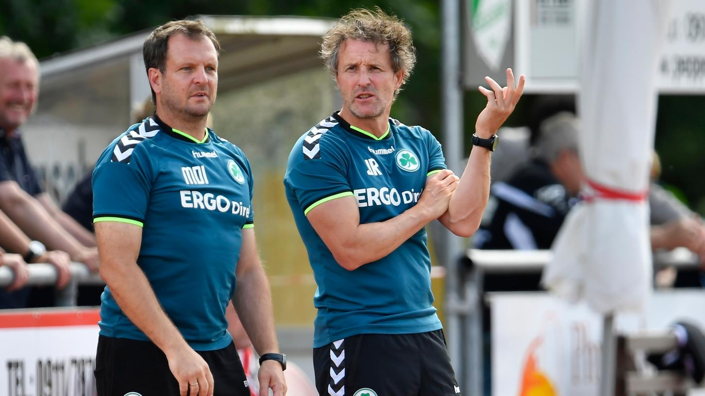 Mirko Dickhaut (links) war bislang Co-Trainer von Janos Radoki (rechts). Der 46-jährige Ex-Profi (Frankfurt, Bochum) übernimmt, bis ein neuer Coach gefunden ist.