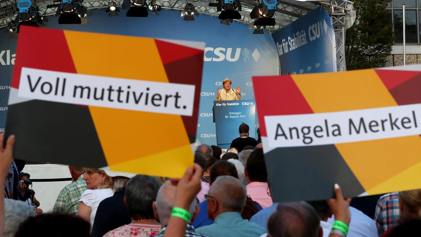 Kanzlerin Angela Merkel legte einen souveränen Auftritt in Erlangen hin.