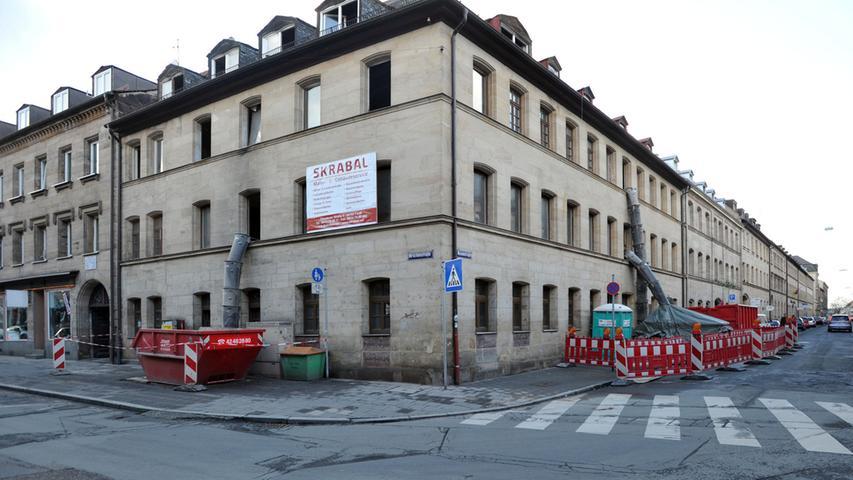 Die Hirschenstraße putzt sich heraus - Generalsanierung Rosenstraße 1 - hier entstehen auf 850 Quadratmetern elf Wohnungen