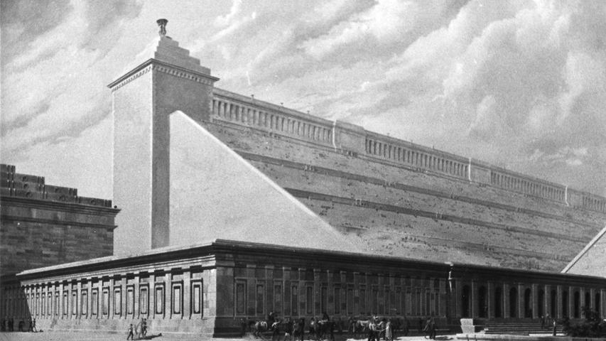 Es war ein wahnsinniges Projekt: Am 9. September 1937 wurde am Reichsparteitagsgelände in Nürnberg im Beisein tausender Besucher der Grundstein für das