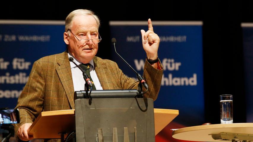 Flüchtlinge und Euro-Ärger: Gauland spricht in der Meistersingerhalle