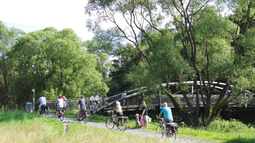 Brücke bei Battenberg, Fernradweg Ederradweg.