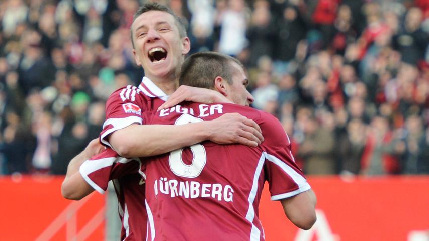Am 25. Spieltag der Saison 2010/2011 hatte der 1. FC Nürnberg, oder besser gesagt Christian Eigler (Nr.8) einen großen Tag. Beim 5:0-Sieg über St. Pauli war Eigler mit vier Treffern maßgeblich beteiligt.