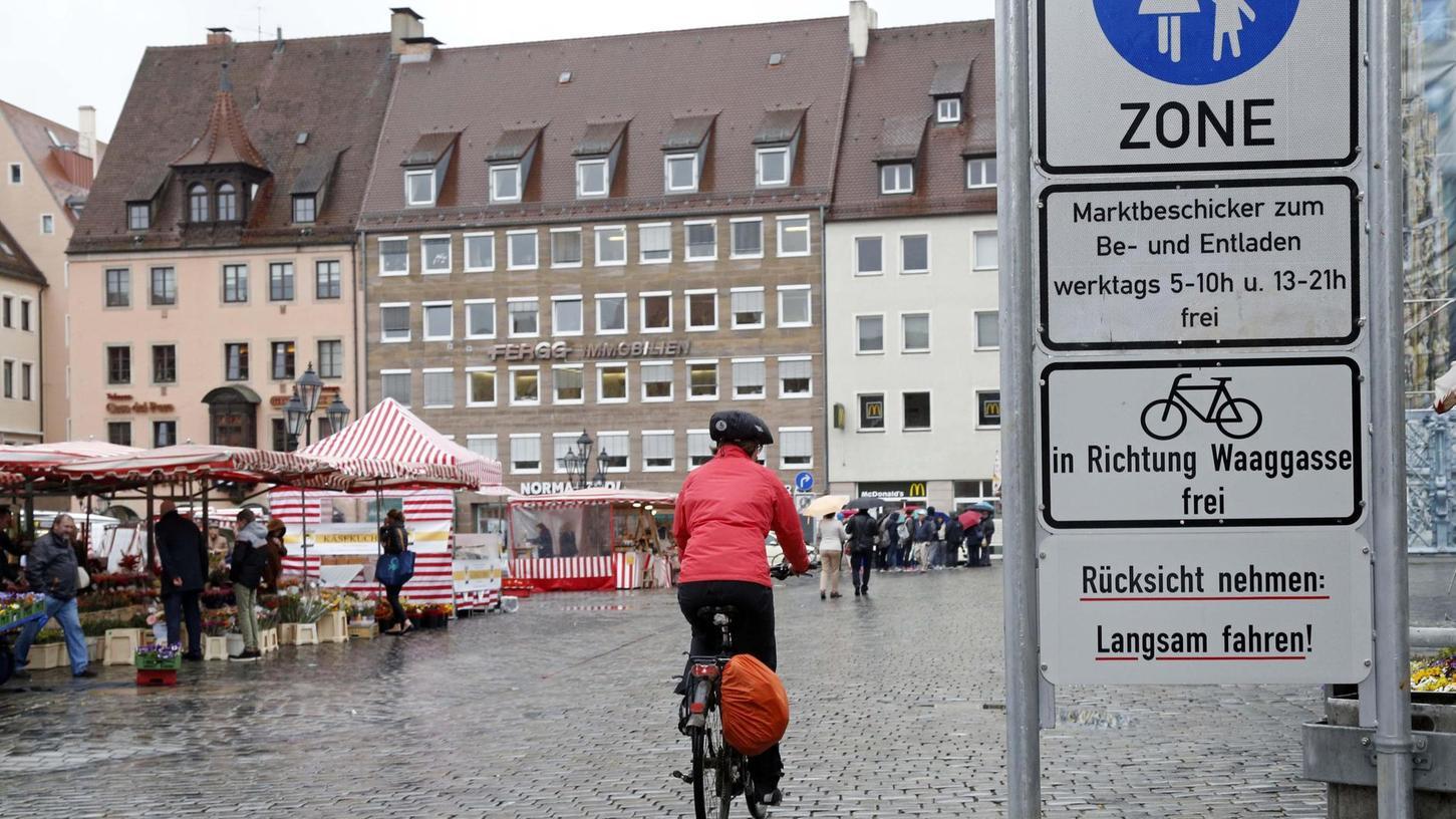 Offen für Radfahrer: Die Stadt will den Korridor zwischen der Brautkehre und der Waaggasse auf Dauer freigeben.