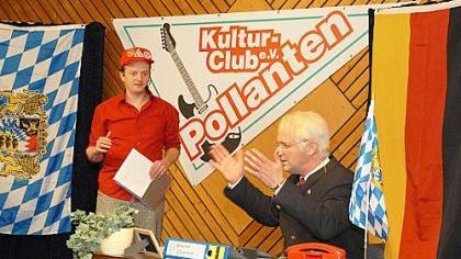 Stoiber-Double Wolfgang Krebs und Sepp Müller gastierten beim Kulturclub.