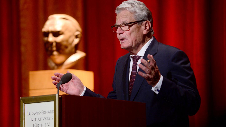 Rief die Politik bei der Verleihung des Ludwig-Erhard-Preises zum Kampf gegen Populisten auf: Der ehemalige Bundespräsident Joachim Gauck.