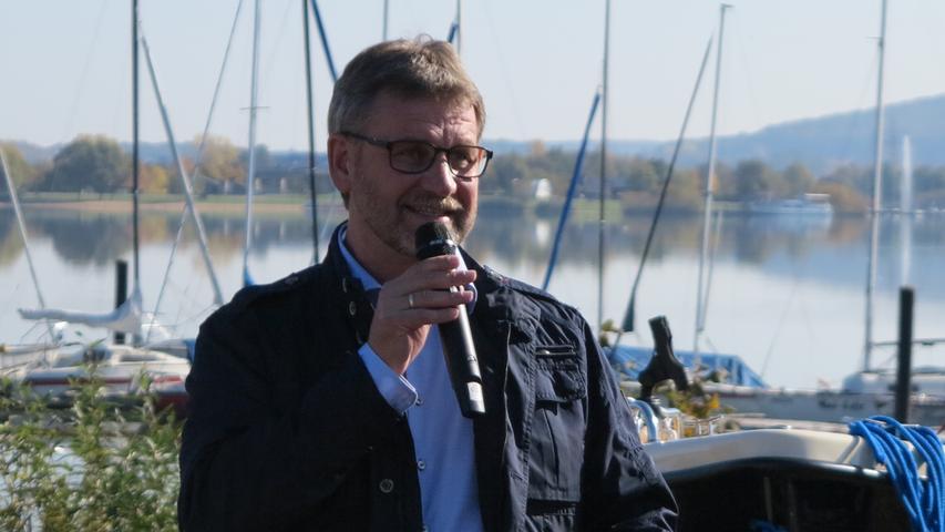 Foto: Wolfgang Dressler; Oktober 2017; AB Motiv: 5. Fischerfest Altmühlsee Seezentrum Wald Gunzenhausens Bürgermeister Karl-Heinz bei der Begrüßung