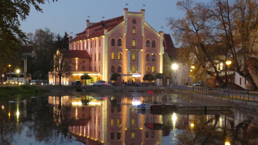 Eine historische Mühle in Budweis wurde in ein schmuckes Hotel umgebaut.
