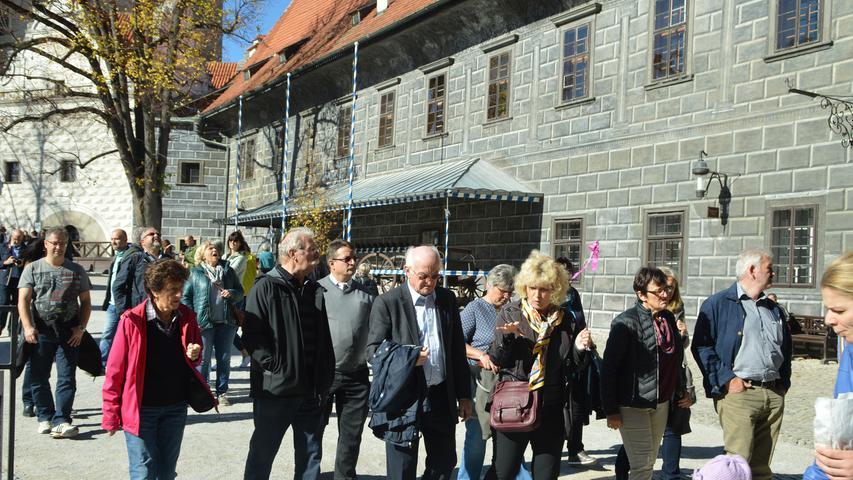 Die Kommunalpolitiker aus dem Landkreis Bayreuth waren von den Schlossanlagen in Krumau begeistert.