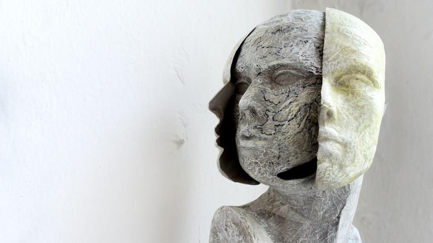 Fürther Künstlerinnen und Künstler luden ein zum Gastpiel 2017 und bekamen jede Menge Besuch. Hier in der Kaiserstraße 173 (Clinc), Objekt von Susanne Leutsch.