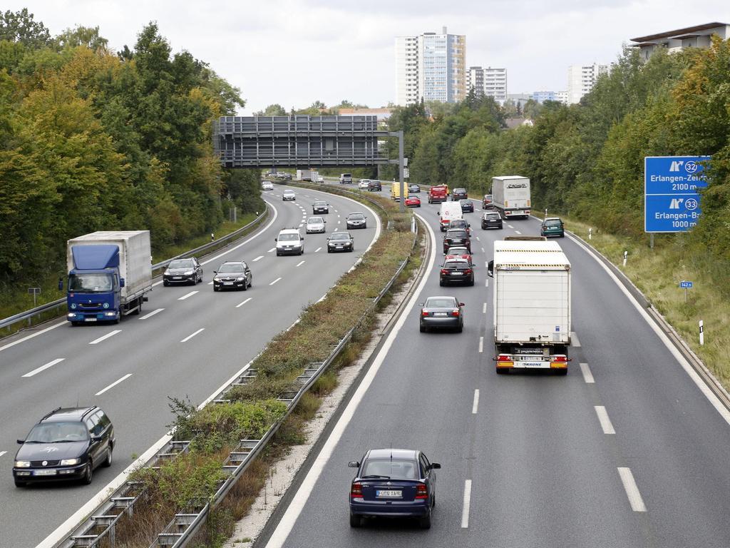 Die A73 wird bei Erlangen ab heute Nacht gesperrt sein.