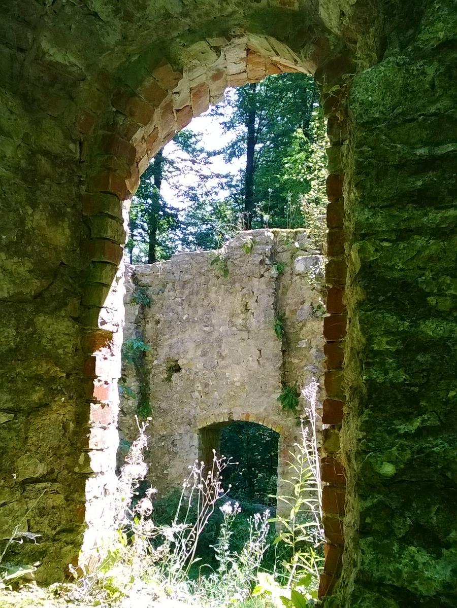 MOTIV: Ruine der St. Ulrichs-Kapelle auf dem Uhlberg bei Treuchtlingen; Mittelfranken..FOTO: Für NN und NZ honorarfrei bei Nennung: Rainer Thiele; ..gesp. 08/15..RTh
