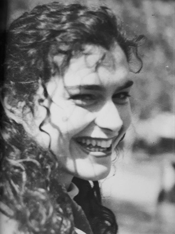 """Ein älteres Schwarz-Weiß-Bild Banu Büyükavcis. """"Die anderen Fotos von mir hat alle die Polizei."""""""