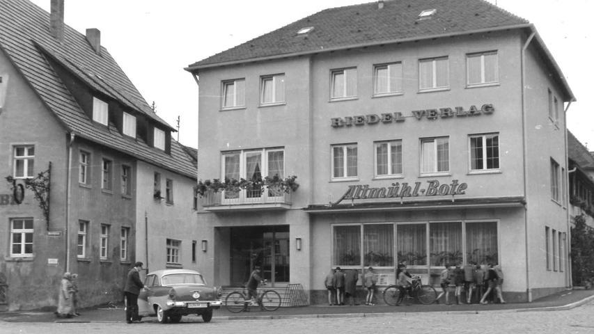 So sah das Geschäftshaus des Altmühl-Boten am Gunzenhausener Marktplatz einst aus.