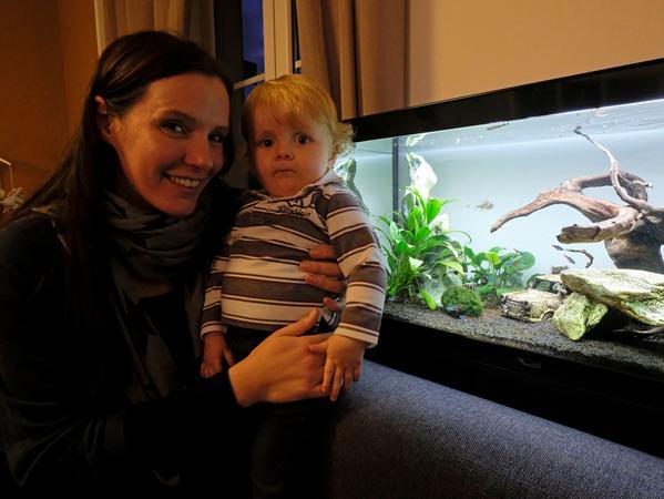 SamSon..Foto: Guenter Distler..Motiv: Haustier-Serie: Carla und ihre Fischen; Carla Kochanowski;