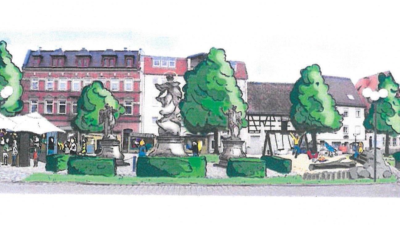 So könnte der Paradeplatz nach den Vorstellungen der Forchheimer Grünen aussehen.