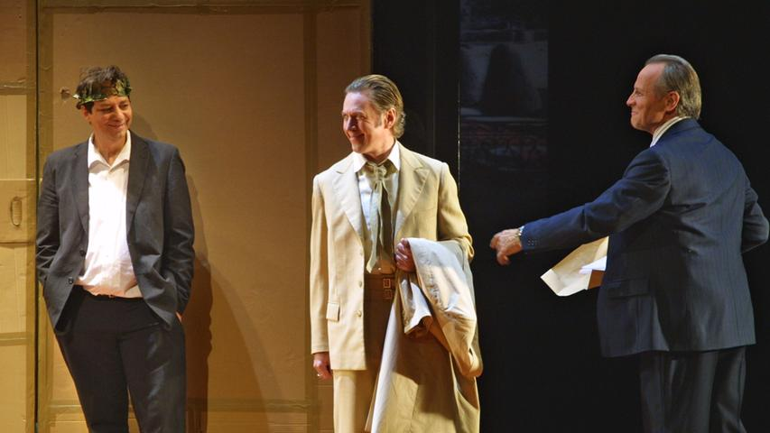 Thomas Nunner, Heimo Essl und Jochen Kuhl (von links nach rechts) gehören zu den markanten Stützen des Nürnberger Schauspielensembles. Nunner bleibt, Kuhl geht in Rente und Heimo Essl verlässt das Staatstheater.