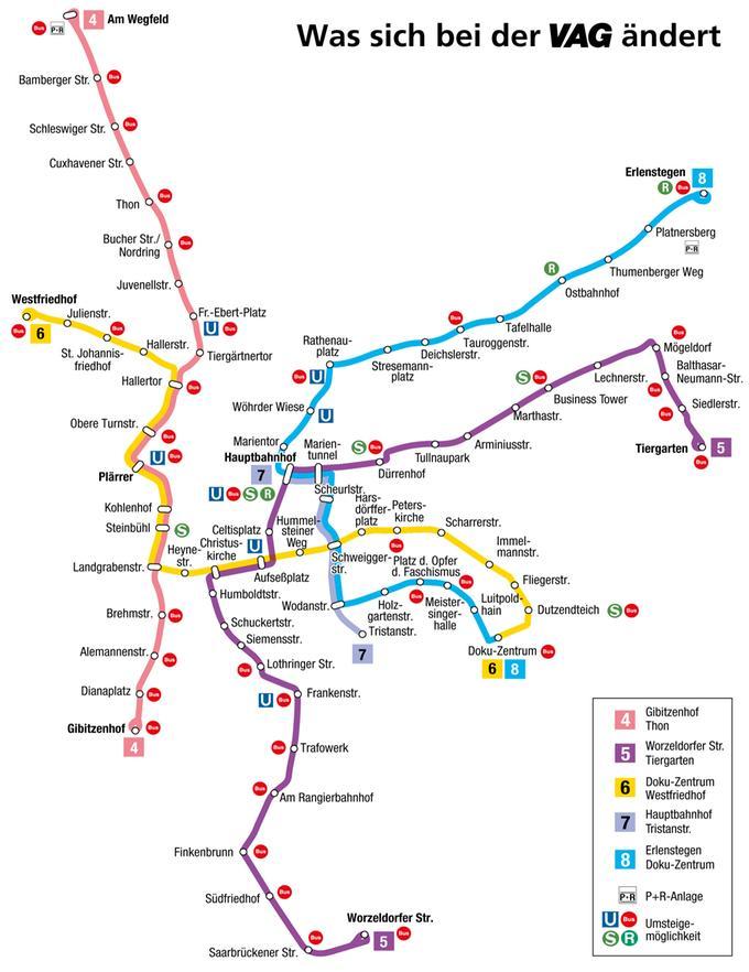 Nürnberg Neuer Vag Fahrplan Nürnberger Westen Profitiert