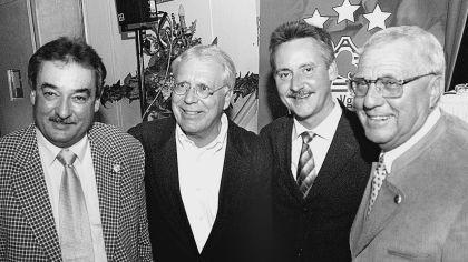 Ein Wirtschaftsbeirat führt den Verein künftig an. Gewählt wurden (von links) Günther Leupold, Bernd Lindner, OB Thomas Jung, Karl Knöfel und Ex-OB Wilhelm Wenning (nicht im Bild).