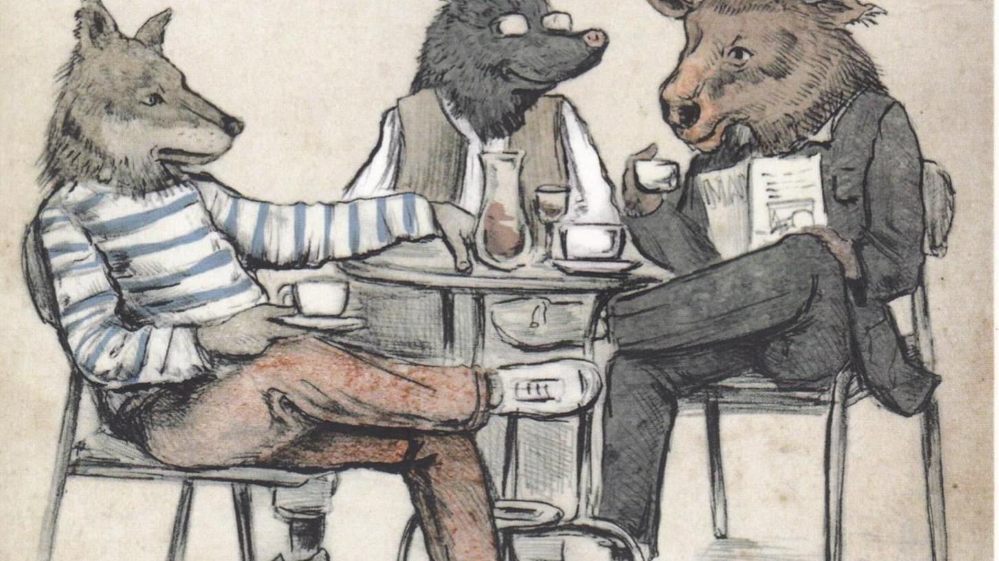 """Eine Illustration von Tom Meilhammer zu dem neuen Buch """"Von Maulwürfen, Männern und anderen Tieren"""