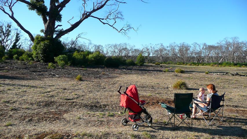 Auf einem Campingplatz auf Kangaroo-Island.