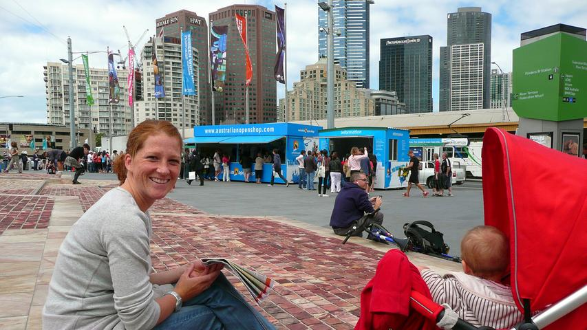 Drei Tage in Melbourne.