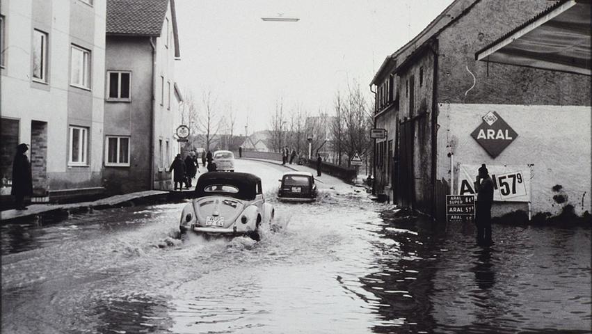 Hochwasser in Treuchtlingen - damals und heute