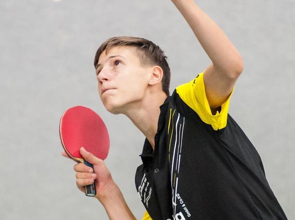 Eine der größten deutschen Tischtennis-Nachwuchshoffnungen: Hannes Hörmann aus Röttenbach im Trikot des TV Hilpoltstein.