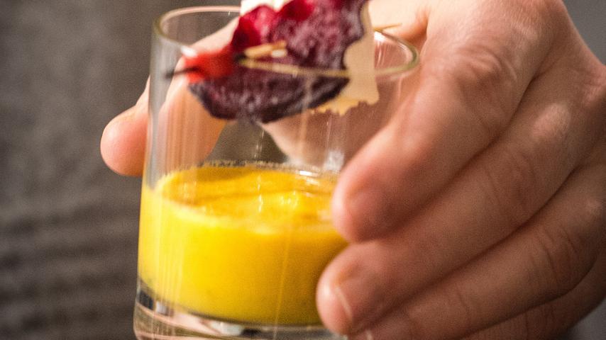 Das Menü startete mit einer Melonen-Gazpacho.