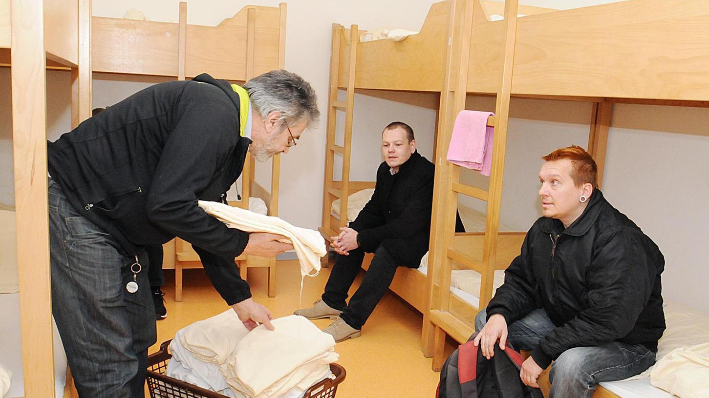 Hilfe in der Nacht: In der Notschlafstelle im Domus Misericordiae der Caritas gibt es etwas Warmes zu essen und vor allem ein sauberes Bett.