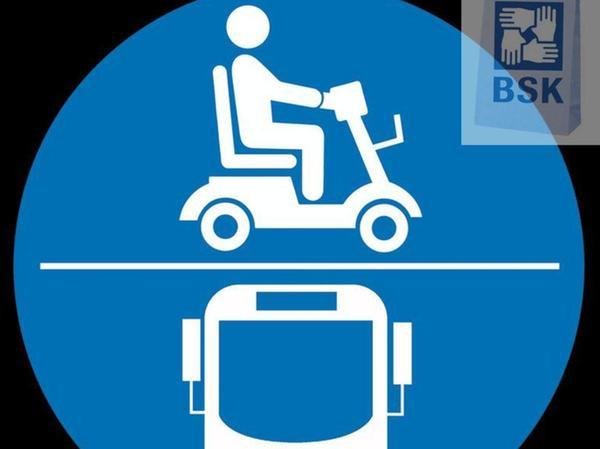 Geeignete Busse und E-Scooter tragen künftig dieses Piktogramm.