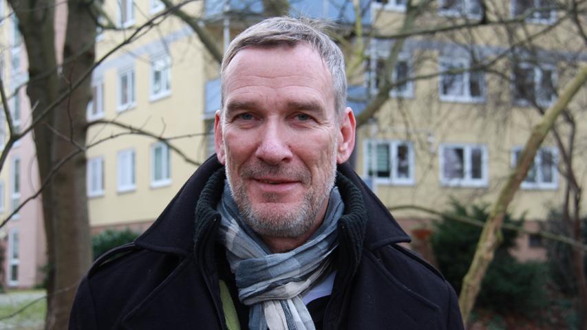 Peter Schultze an der Wöhrder Wiese: