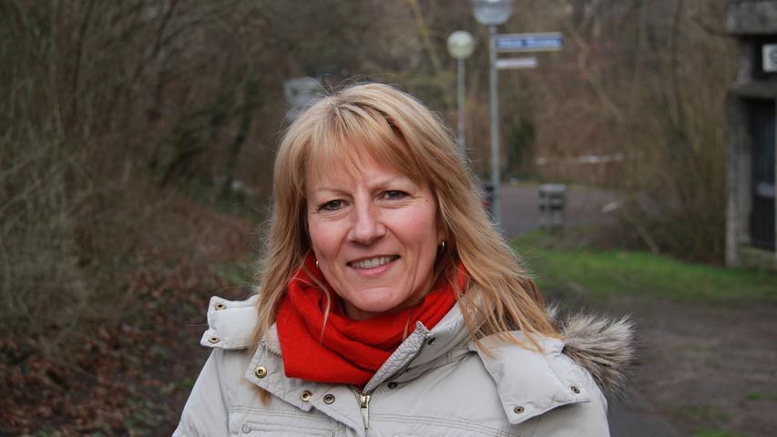 Doris Hegendörfer an der Wöhrder Wiese: